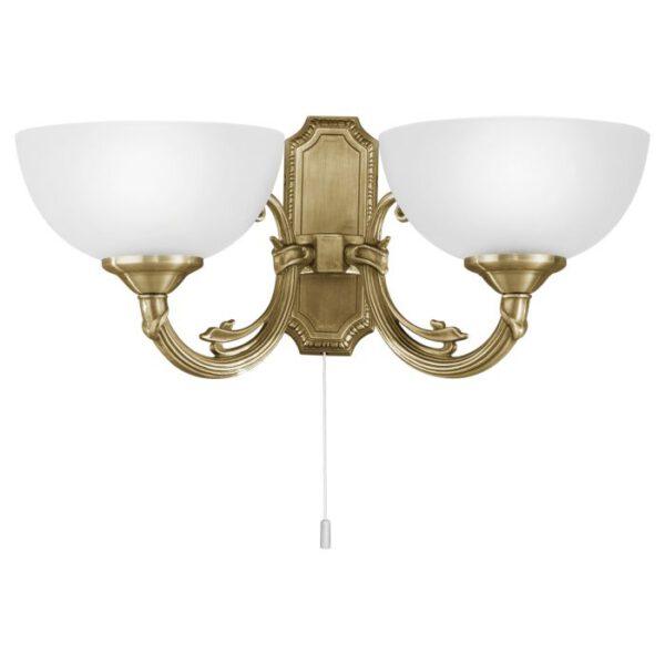 Savoy wandlamp uit de wandlampen collectie van Eglo, verlichting voor een sfeervol thuis! Schitterende lamp vervaardigd uit metaalgietsel, gebronsd van kleur en passend bij vele interieurstijlen. De wandlamp is voorzien van een E14 fitting. Wandlamp Savoy wordt geleverd exclusief lichtbron(nen).