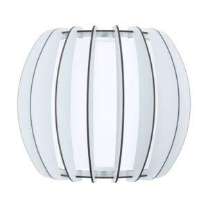 Stellato 2 wandlamp uit de wandlampen collectie van Eglo, verlichting voor een sfeervol thuis! Schitterende lamp vervaardigd uit metaal, wit van kleur en passend bij vele interieurstijlen. De wandlamp is voorzien van een E27 fitting. Wandlamp Stellato 2 wordt geleverd exclusief lichtbron(nen).
