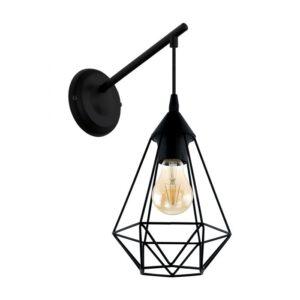 Tarbes wandlamp uit de wandlampen collectie van Eglo, verlichting voor een sfeervol thuis! Schitterende lamp vervaardigd uit metaal, zwart van kleur en passend bij vele interieurstijlen. De wandlamp is voorzien van een E27 fitting. Wandlamp Tarbes wordt geleverd exclusief lichtbron(nen).