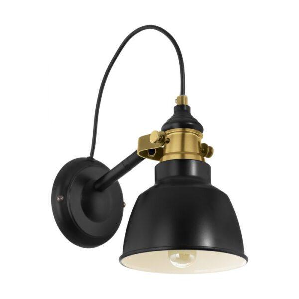 Thornford wandlamp uit de wandlampen collectie van Eglo, verlichting voor een sfeervol thuis! Schitterende lamp vervaardigd uit metaal, zwart, gebronsd van kleur en passend bij vele interieurstijlen. De wandlamp is voorzien van een E27 fitting. Wandlamp Thornford wordt geleverd exclusief lichtbron(nen).