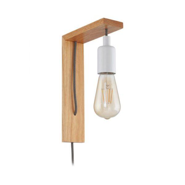 Tocopilla wandlamp uit de wandlampen collectie van Eglo, verlichting voor een sfeervol thuis! Schitterende lamp vervaardigd uit hout, bruin, wit van kleur en passend bij vele interieurstijlen. De wandlamp is voorzien van een E27-LED-A60 fitting. Wandlamp Tocopilla wordt geleverd exclusief lichtbron(nen).