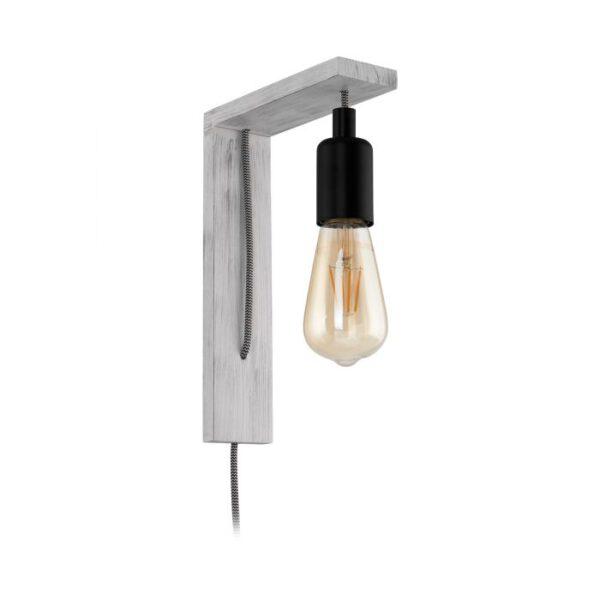 Tocopilla wandlamp uit de wandlampen collectie van Eglo, verlichting voor een sfeervol thuis! Schitterende lamp vervaardigd uit hout, wit-patina, zwart van kleur en passend bij vele interieurstijlen. De wandlamp is voorzien van een E27-LED-A60 fitting. Wandlamp Tocopilla wordt geleverd exclusief lichtbron(nen).