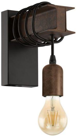 Townshend 4 wandlamp uit de wandlampen collectie van Eglo, verlichting voor een sfeervol thuis! Schitterende lamp vervaardigd uit metaal, zwart, bruin van kleur en passend bij vele interieurstijlen. De wandlamp is voorzien van een E27-LED fitting. Wandlamp Townshend 4 wordt geleverd exclusief lichtbron(nen).