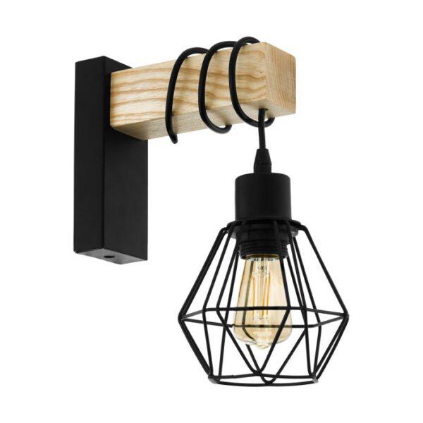 Townshend 5 wandlamp uit de wandlampen collectie van Eglo, verlichting voor een sfeervol thuis! Schitterende lamp vervaardigd uit metaal, zwart, bruin van kleur en passend bij vele interieurstijlen. De wandlamp is voorzien van een E27 fitting. Wandlamp Townshend 5 wordt geleverd exclusief lichtbron(nen).