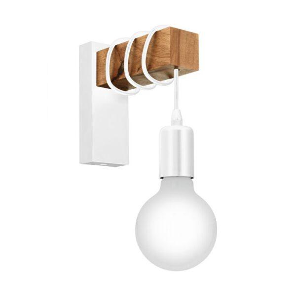 Townshend wandlamp uit de wandlampen collectie van Eglo, verlichting voor een sfeervol thuis! Schitterende lamp vervaardigd uit metaal, wit van kleur en passend bij vele interieurstijlen. De wandlamp is voorzien van een E27-LED fitting. Wandlamp Townshend wordt geleverd exclusief lichtbron(nen).