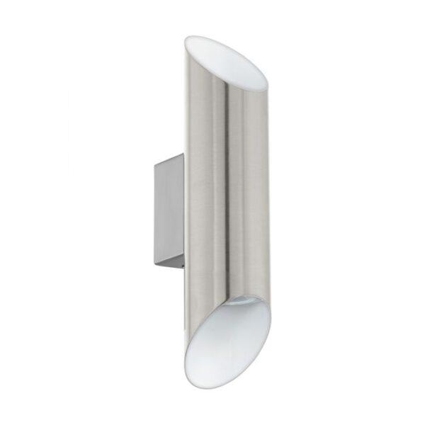 Viegas wandlamp uit de wandlampen collectie van Eglo, verlichting voor een sfeervol thuis! Schitterende lamp vervaardigd uit metaal, nikkel-mat, wit van kleur en passend bij vele interieurstijlen. De wandlamp is voorzien van een GU10-LED fitting. Wandlamp Viegas wordt geleverd inclusief lichtbron(nen).