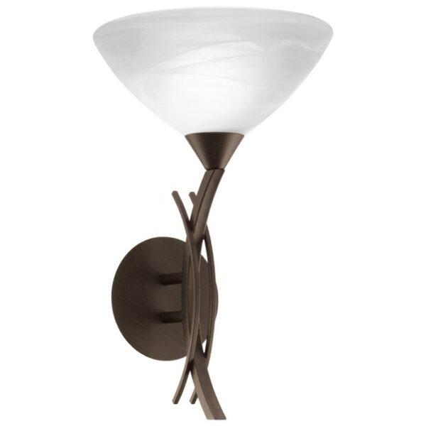 Vinovo wandlamp uit de wandlampen collectie van Eglo, verlichting voor een sfeervol thuis! Schitterende lamp vervaardigd uit metaal, donkerbruin van kleur en passend bij vele interieurstijlen. De wandlamp is voorzien van een E27 fitting. Wandlamp Vinovo wordt geleverd exclusief lichtbron(nen).