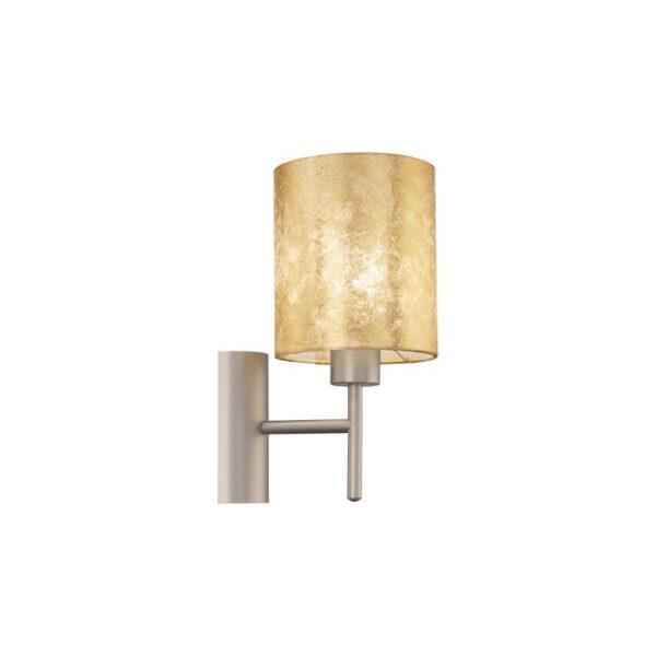 Viserbella wandlamp uit de wandlampen collectie van Eglo, verlichting voor een sfeervol thuis! Schitterende lamp vervaardigd uit metaal, champagne van kleur en passend bij vele interieurstijlen. De wandlamp is voorzien van een E27 fitting. Wandlamp Viserbella wordt geleverd exclusief lichtbron(nen).