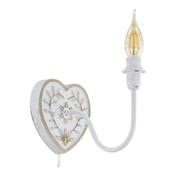 Wandarmaturen wandlamp uit de wandlampen collectie van Eglo, verlichting voor een sfeervol thuis! Schitterende lamp vervaardigd uit -, wit, goud van kleur en passend bij vele interieurstijlen. De wandlamp is voorzien van een E14 fitting. Wandlamp Wandarmaturen wordt geleverd exclusief lichtbron(nen).