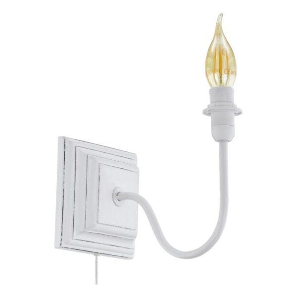 Wandarmaturen wandlamp uit de wandlampen collectie van Eglo, verlichting voor een sfeervol thuis! Schitterende lamp vervaardigd uit hout, wit-patina van kleur en passend bij vele interieurstijlen. De wandlamp is voorzien van een E14 fitting. Wandlamp Wandarmaturen wordt geleverd exclusief lichtbron(nen).