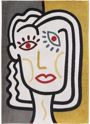 Vloerkleed Gallery 9143 Dora van Eurogros 170x240, uitgevoerd in 85% Katoen / 15% Polyester - Gedessineerd