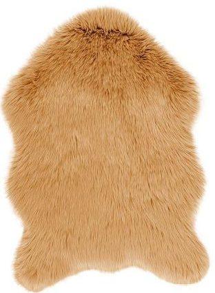 Vloerkleed Schapenvacht Camel van Eurogros , uitgevoerd in 100% Immitatiebond - Huiden