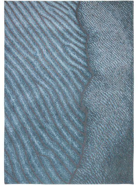 Vloerkleed Waves Shores 9132 van Eurogros 170x240, uitgevoerd in 85% Katoen / 15% Polyester - Gedessineerd