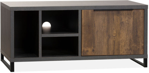 Toronto tv-dressoir in Lamulux melamine onyx / mokka - Feelings