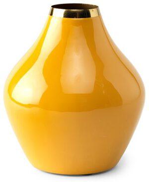 Elmira vaas 19(h) yellow enamel  vaas Ø17x19(h) Feelings Lowik Meubelen