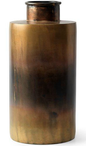 Marty vaas Ø14x29(h) burnt brass/black  Vaas Marty Feelings Lowik Meubelen