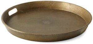 Olav dienblad s/3 silver antique  dienblad, set van 3 stuks,Ø47x5(h) / Ø42x5(h) / Ø38x5(h) Feelings Lowik Meubelen