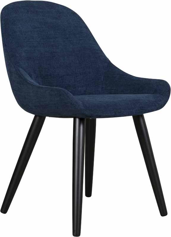 Layla stoel - stof Midnight blue
