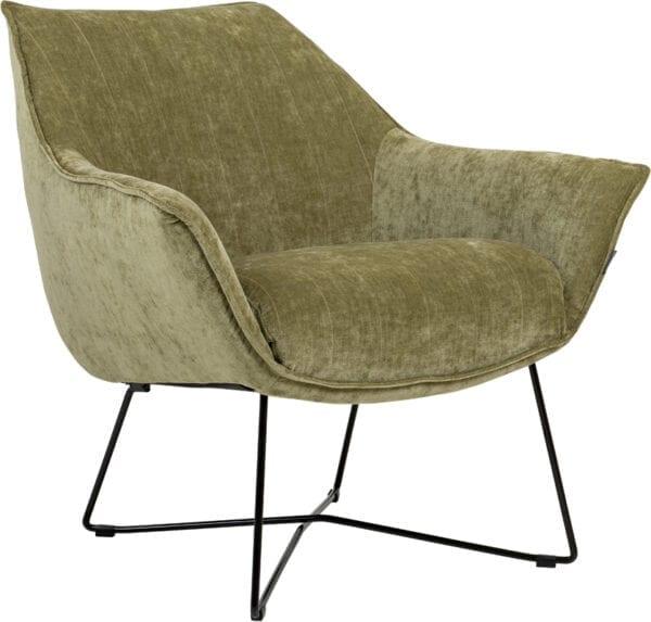 Egon fauteuil Furninova - Nappa leder cement