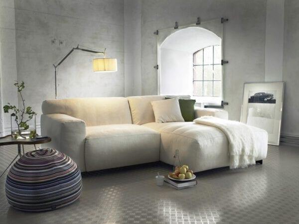 Zeus hoekbank met longchair, elementen sofa uit de Furninova banken collectie