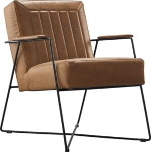 Bardio fauteuil in leder Stelvio cognac - IN.House meubels