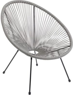 Kare Design Fauteuil Acapulco Grey fauteuil 85273 - Lowik Meubelen