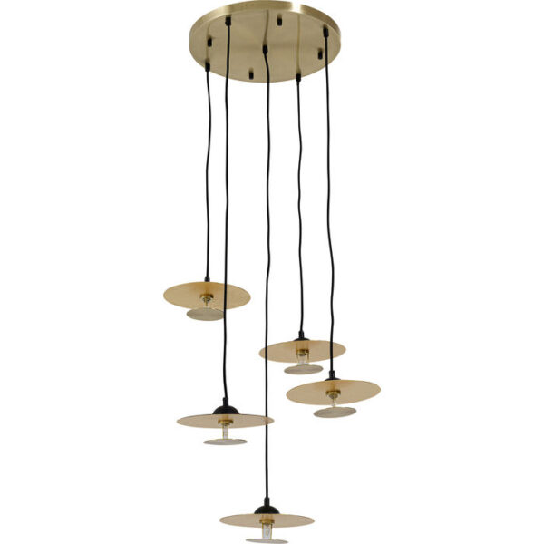 Kare Design Hanglamp Disc Spiral Cinque hanglamp 52506 - Lowik Meubelen