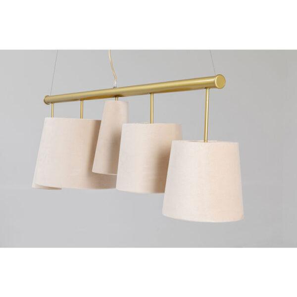 Kare Design Hanglamp Parecchi Cream Brass - 100 hanglamp 52549 - Lowik Meubelen