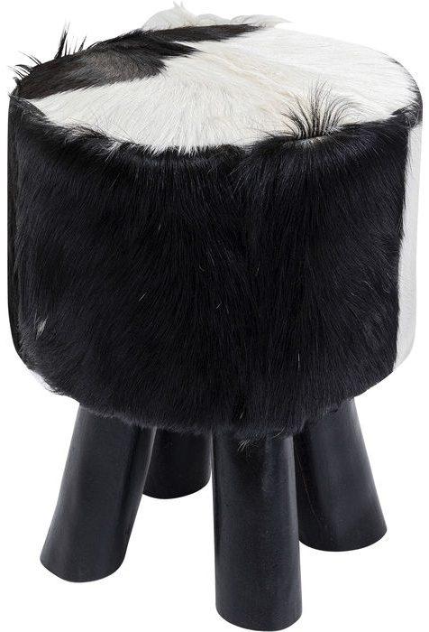 Kare Design Poef Flint Stone Black - Ø35 poef 85264 - Lowik Meubelen