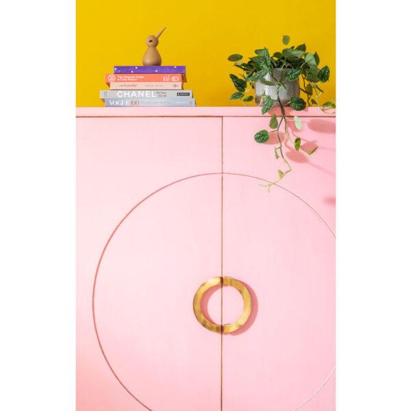 Kare Design Kledingkast Disk Pink kledingkast 83534 - Lowik Meubelen