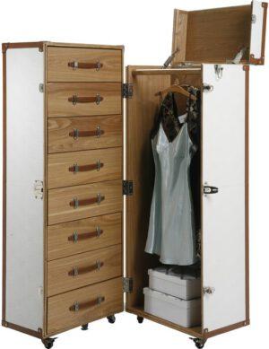 Kare Design Kledingkast Trunk Croco White Cosmopolitan kledingkast 73934 - Lowik Meubelen