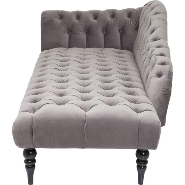 Kare Design Loungebank Desire Velvet Silver loungebank 81042 - Lowik Meubelen