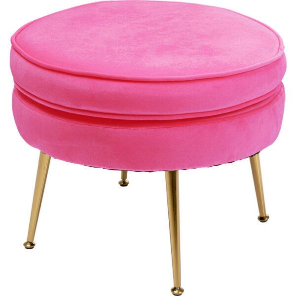 Kare Design Poef Water Lily Pink poef 85507 - Lowik Meubelen