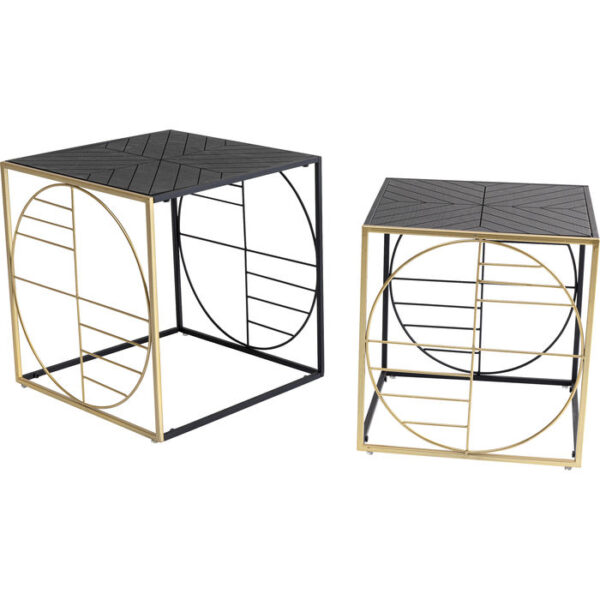 Kare Design Salontafel Techno - 2 (2/Set) salontafel 85284 - Lowik Meubelen