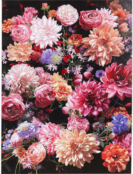 Schilderij Touched Flower Bouquet - 120x90