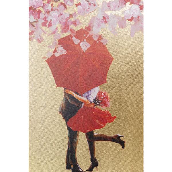 Kare Design Schilderij Touched Flower Couple Gold Pink - 100x80 schilderij 51741 - Lowik Meubelen