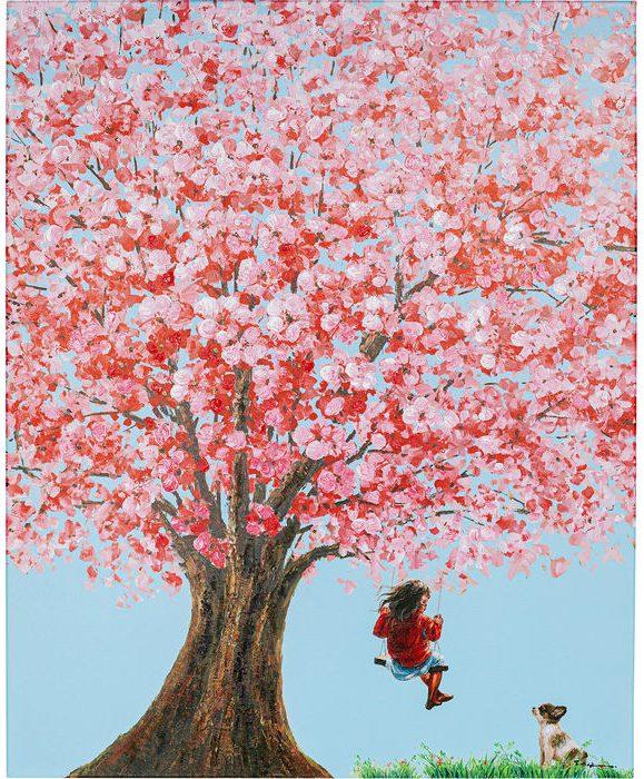 Kare Design Schilderij Touched Flower Girl - 100x80 schilderij 51743 - Lowik Meubelen