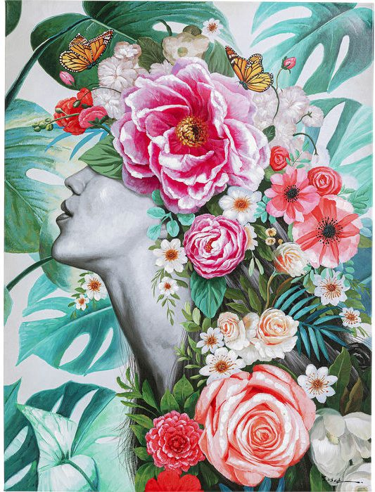 Kare Design Schilderij Touched Flower Lady - 120x90 schilderij 52575 - Lowik Meubelen