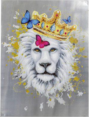 Kare Design Schilderij Touched King of Lion - 120x90 schilderij 52572 - Lowik Meubelen