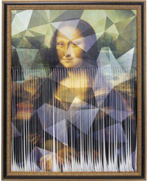Kare Design Schilderij met lijst Mademoiselle Lisa - 163x130 schilderij 52639 - Lowik Meubelen