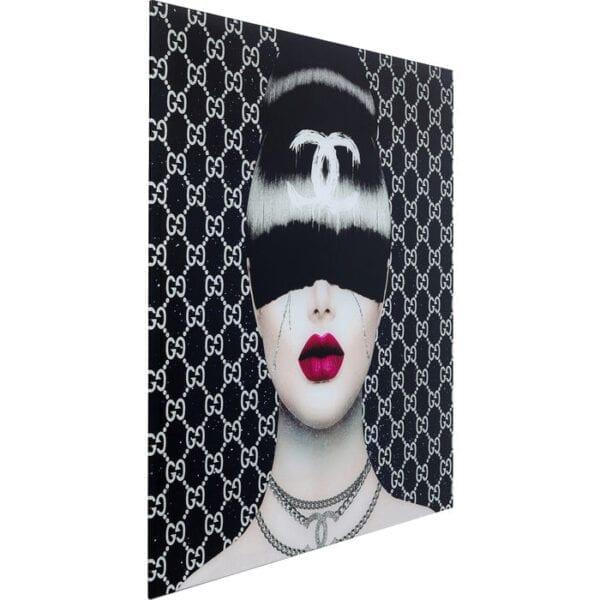 Kare Design Schilderij op glas Fashion Haircut - 80x80 schilderij 52594 - Lowik Meubelen