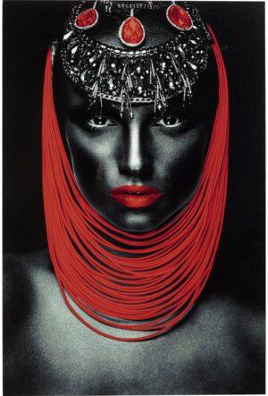 Kare Design Schilderij op glas Lady Red Lips - 80x120 schilderij 52553 - Lowik Meubelen