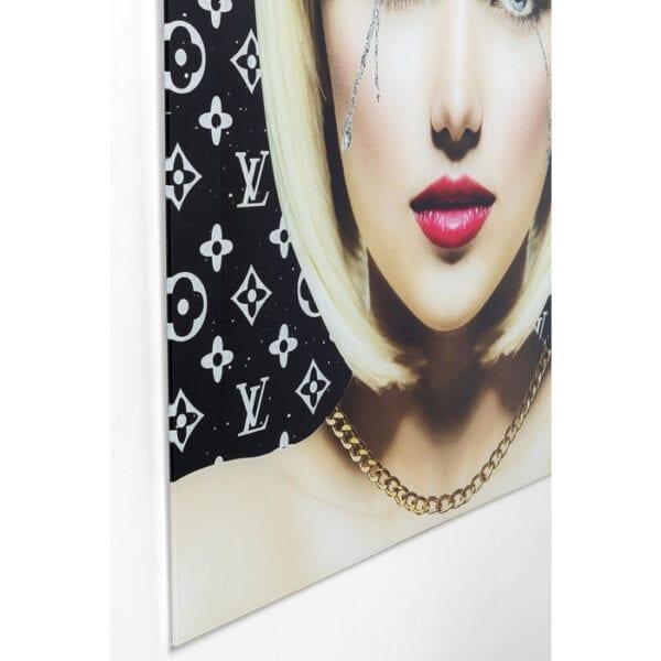 Kare Design Schilderij op glas Runny Eyes - 80x80 schilderij 52593 - Lowik Meubelen