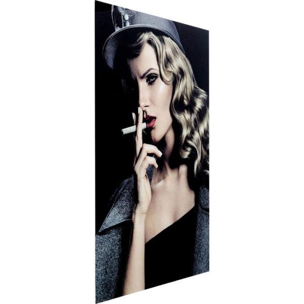 Kare Design Schilderij op glas Smokey Lady - 120x80 schilderij 52590 - Lowik Meubelen
