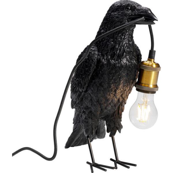 Kare Design Tafellamp Crow Mat Black tafellamp 52704 - Lowik Meubelen