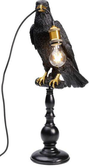 Kare Design Tafellamp Sitting Crow Mat Black tafellamp 52705 - Lowik Meubelen