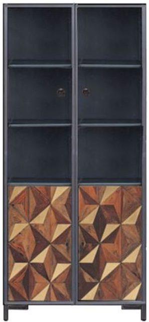 Kare Design Vitrinekast Illusion Gold - 180x90 vitrinekast 85413 - Lowik Meubelen