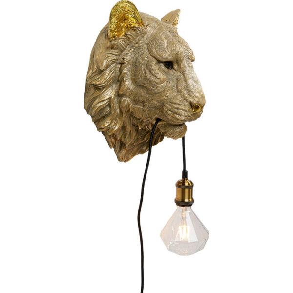 Kare Design Wandlamp Tiger Head wandlamp 52710 - Lowik Meubelen