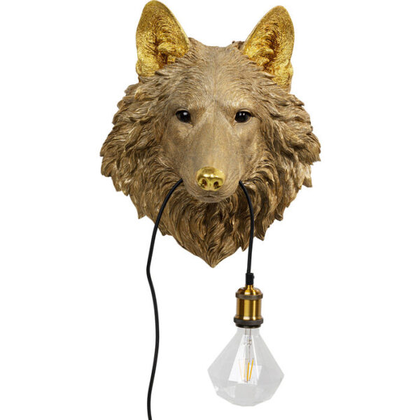 Kare Design Wandlamp Wolf Head wandlamp 52708 - Lowik Meubelen