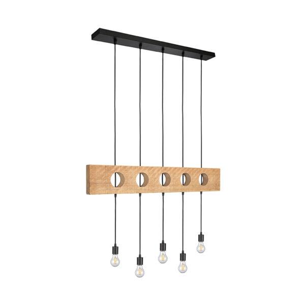 Hanglamp Timber - Rough - Mangohout uit de Timber collectie van Label51 - Löwik Meubelen